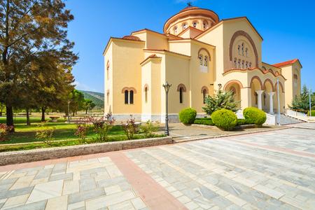 Beautiful old monastery of Agios Gerasimos on Kefalonia island, Greece