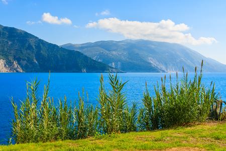 View of beautiful coast of Kefalonia island, Greece