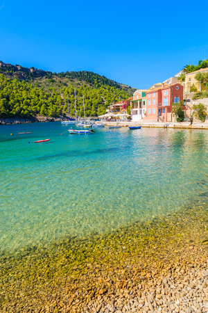 Beautiful beach in Assos village, Kefalonia island, Greece