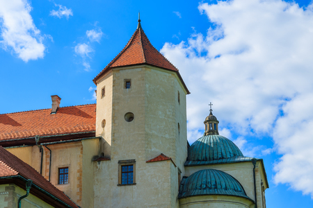 Nowy Wisnicz castle on sunny beautiful day, Poland
