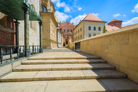 Entrance to cathedral on Wawel castle, Poland