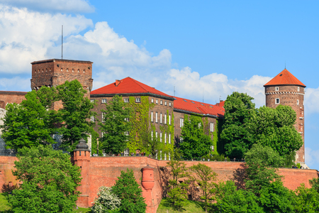 Beautiful Wawel Royal Castle on sunny day - Unesco World Heritage Site, Poland