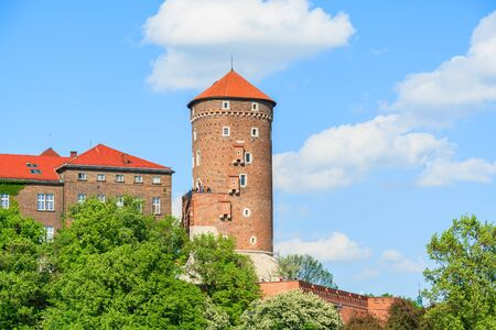 Beautiful Wawel Royal Castle on sunny day in Poland Editorial
