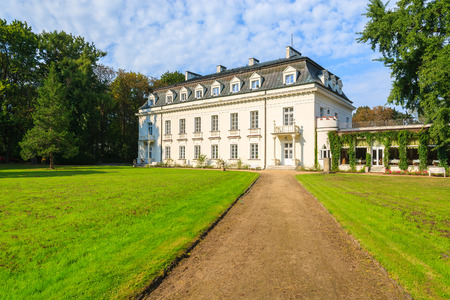 Beautiful palace in Radziejowice village near Warsaw, Poland Editorial