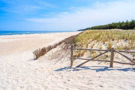 Entrance to beautiful beach in Lubiatowo, Baltic Sea, Poland