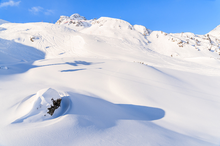 View of mountains and ski slopes in Obertauern, Austria