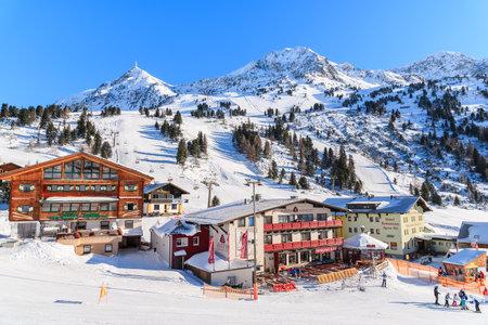 OBERTAUERN SKI AREA, AUSTRIA - JAN 20, 2017: View of mountain hotels in Obertauern winter resort, Austria.
