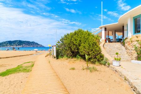 Path to Es Figueral beach, Ibiza island, Spain