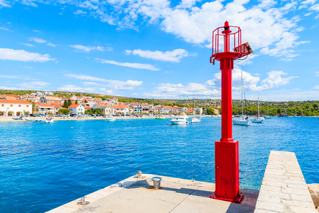 Pier and entrance to Primosten port, Dalmatia, Croatia