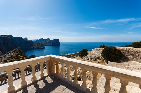 View of Majorca island coast from Cap Formentor lighthouse