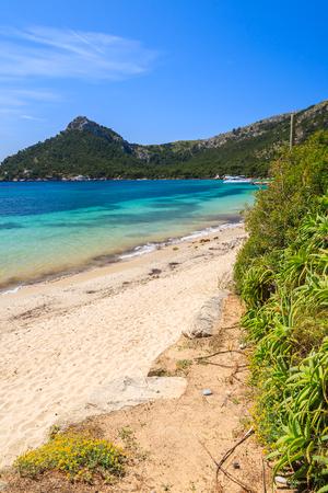 Beautiful beach Cala Pi de la Posada, Majorca island, Spain