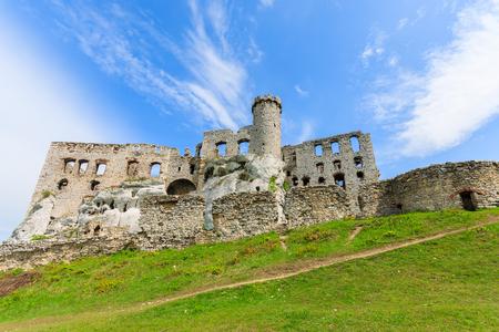 Beautiful castle in Ogrodzieniec near Krakow in spring, Poland