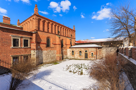 Old Jewish synagogue in Kazimierz district of Krakow city, Poland Stock Photo