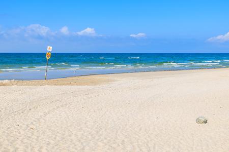 White sand beach in Leba, Baltic Sea, Poland