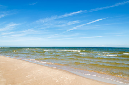 Beautiful sandy beach near Leba, Baltic Sea, Poland