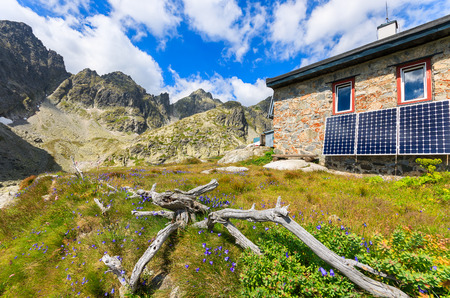 Teryho hut in summer landscape of Tatra Mountains, Slovakia