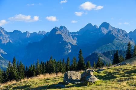 View of Tatra Mountains from Rusinowa Poland, Poland
