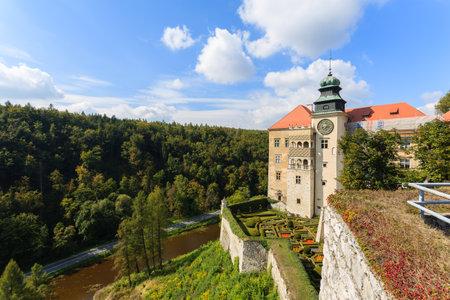 Beautiful Pieskowa Skala castle in Ojcow National Park, Poland Editorial