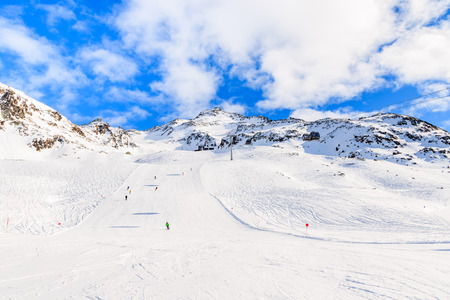 Beautiful ski slope and mountains in winter season in Hochgurgl-Obergurgl ski area, Tirol, Austria