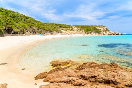 Grande Sperone beach on beautiful island of Corsica, France Stock Photo
