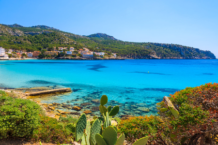 Beautiful sea coast of Majorca island in Sant Elm town, Spain