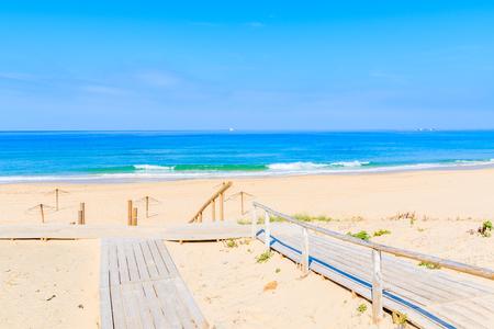 Steps to sandy beautiful Tarifa beach, Andalusia, Spain
