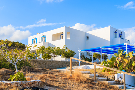 Beautiful holiday villa and tropical garden in Ammopi village, Karpathos island, Greece