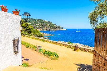 Coastal path from Calella de Palafrugell to Llafranc town, Costa Brava, Spain