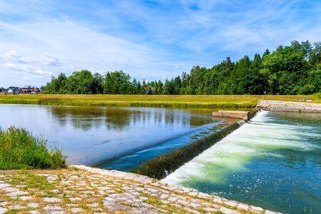 Dunajec river near Nowy Targ town on beautiful sunny summer day, Tatra Mountains, Poland Reklamní fotografie
