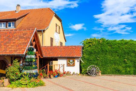 Winery near Riquewihr village on Alsatian Wine Route, France