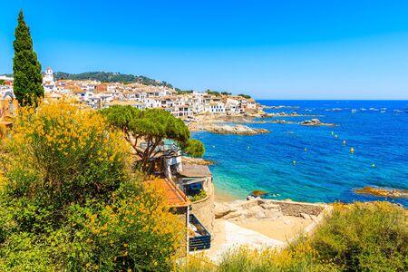View of beautiful coast in fishing village Calella de Palafrugell, Costa Brava, Catalonia, Spain