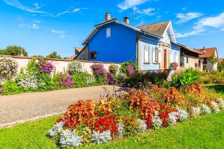 Colorful houses in Bergheim village on Alsatian Wine Route, France Reklamní fotografie