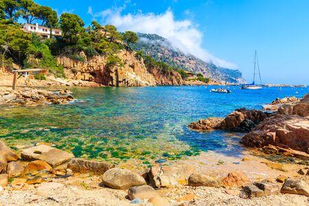 Beach near Cala Fornells village, Costa Brava, Catalonia, Spain