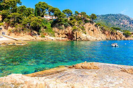 Beach near Cala Fornells village, Costa Brava, Catalonia, Spain Фото со стока - 130816126