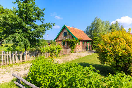 Old traditional rural house in Galkowo village near Krutynia river, Masurian Lakes, Poland Publikacyjne