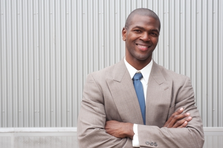 portrait of an African American businessman taken on location Stock Photo - 13675838