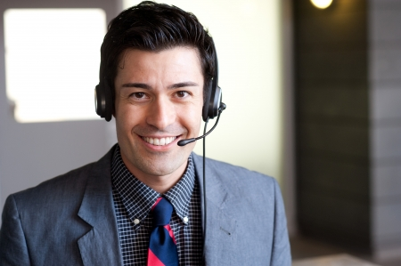 portrait of a young businessman looking at camera