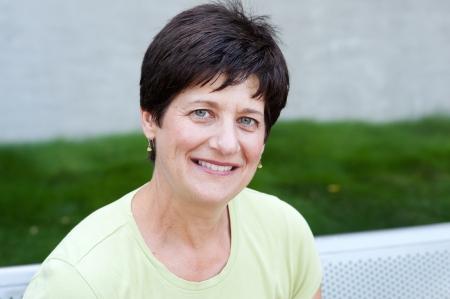 portrait of a smiling mature woman taken outside Standard-Bild