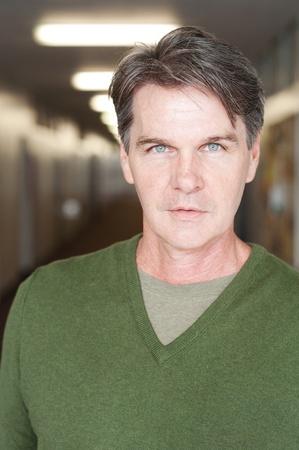 casual portrait of a mature, experienced man  Фото со стока