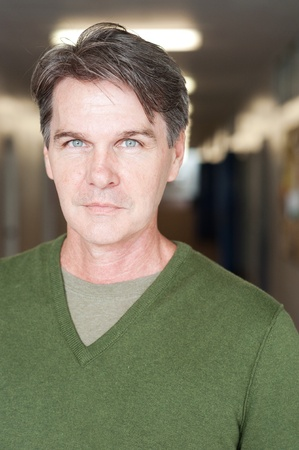 casual portrait of a mature, experienced man  版權商用圖片
