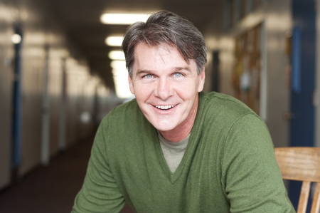 casual portrait of a mature, happy man  photo