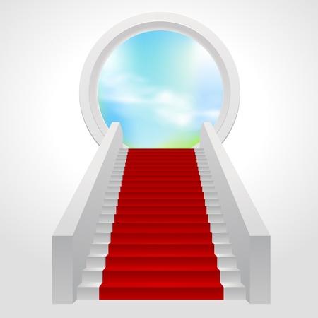 escaleras Ilustración de vector