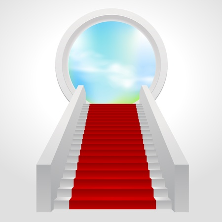god in heaven: stairs Illustration