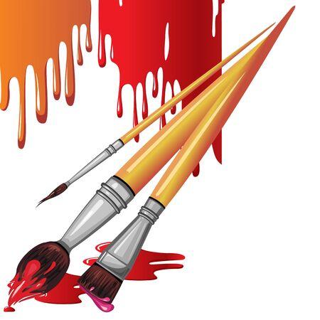 artistas: Pincel de pintura Vectores
