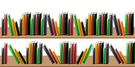 row: Isolated books over white background Illustration
