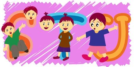 stu: Children and stu with Clipping Path