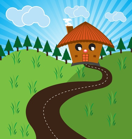Vector illustration of a country house Vector