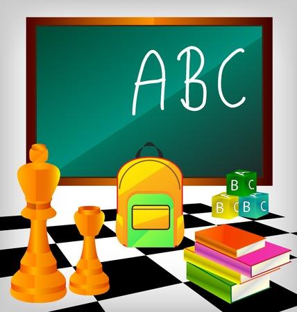 chess set: Learning Elements School Set Illustration