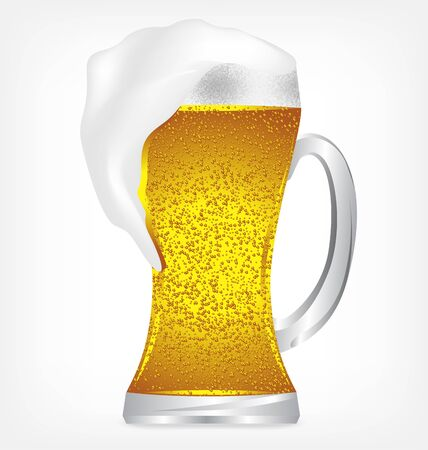beerglass: Beer in glass objects on white background