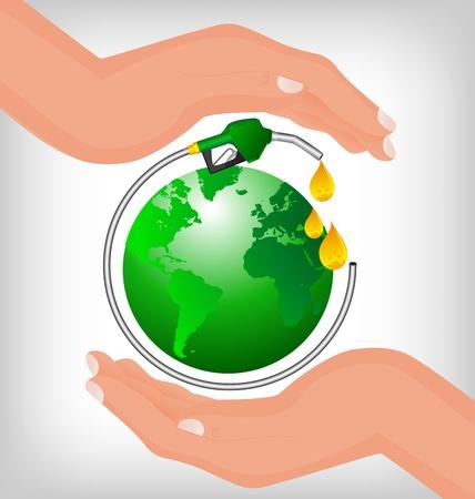 sostenibilit�: Bio-diesel isolato su uno sfondo
